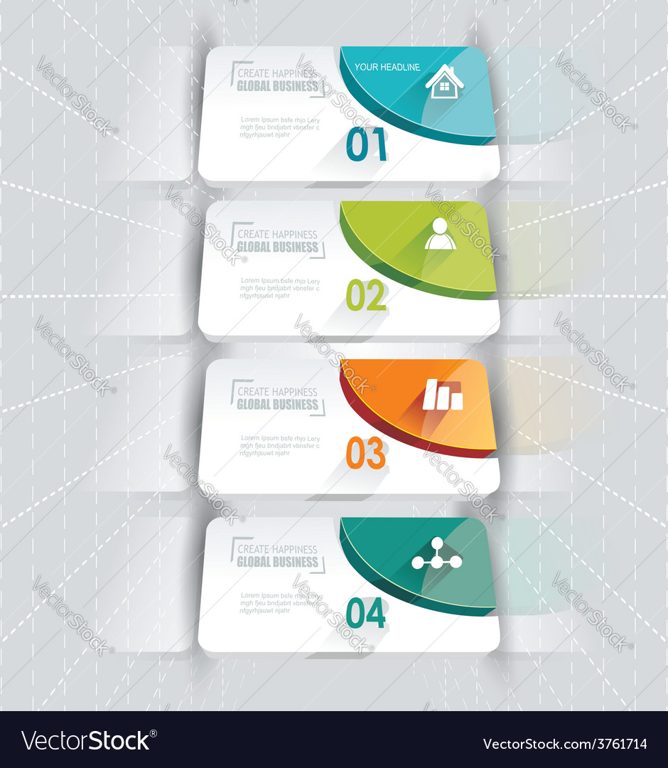 Modern options bannercan be used for workflow vector | Price: 1 Credit (USD $1)