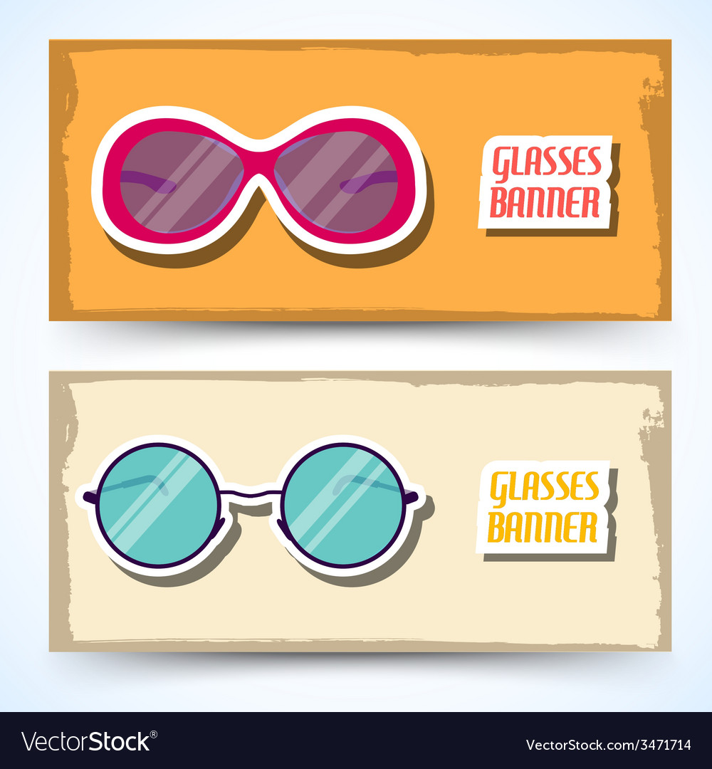 Retro glasses background concept vector | Price: 1 Credit (USD $1)