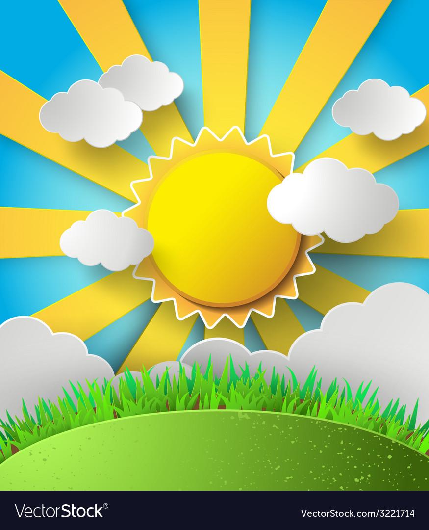 Sunlight on cloud vector | Price: 1 Credit (USD $1)