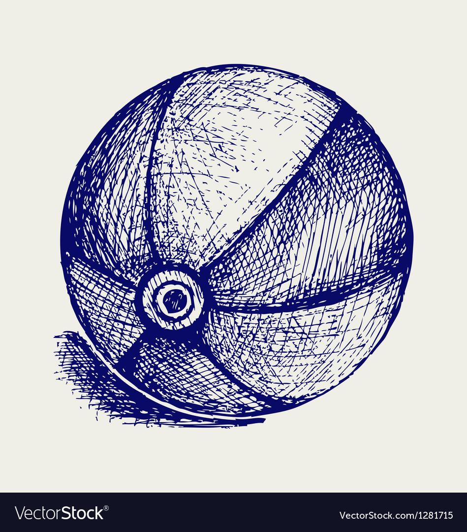 Beach ball vector | Price: 1 Credit (USD $1)