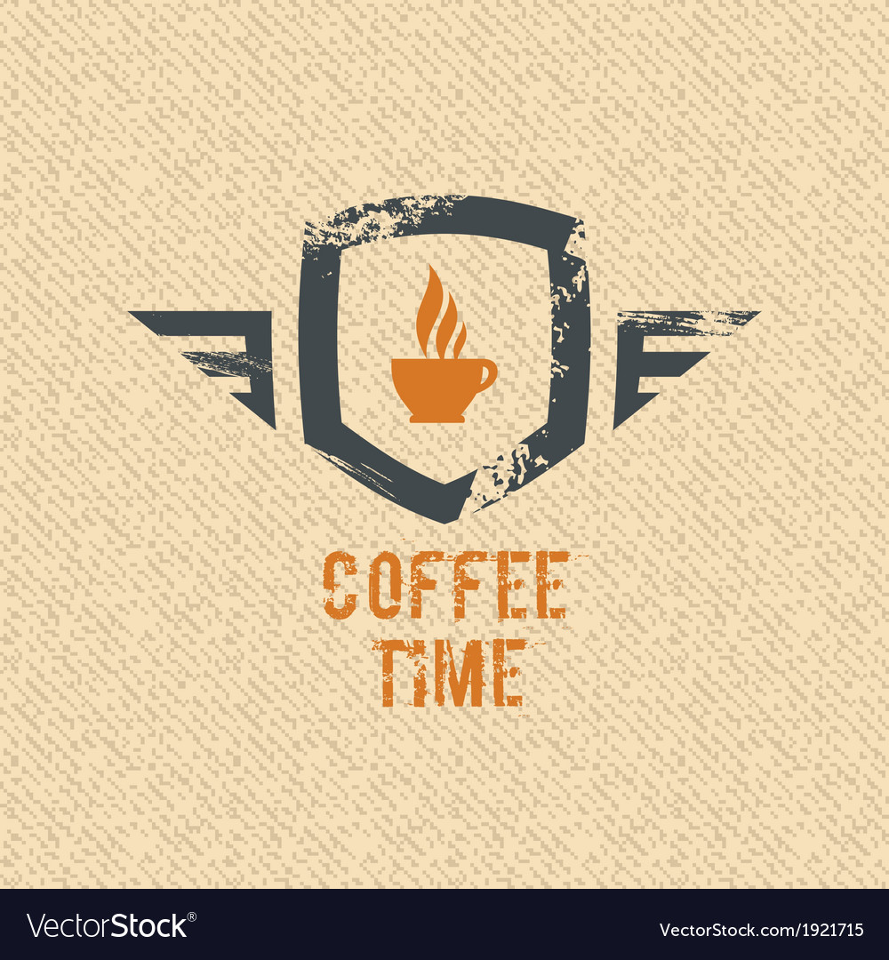 Coffee time label vector | Price: 1 Credit (USD $1)