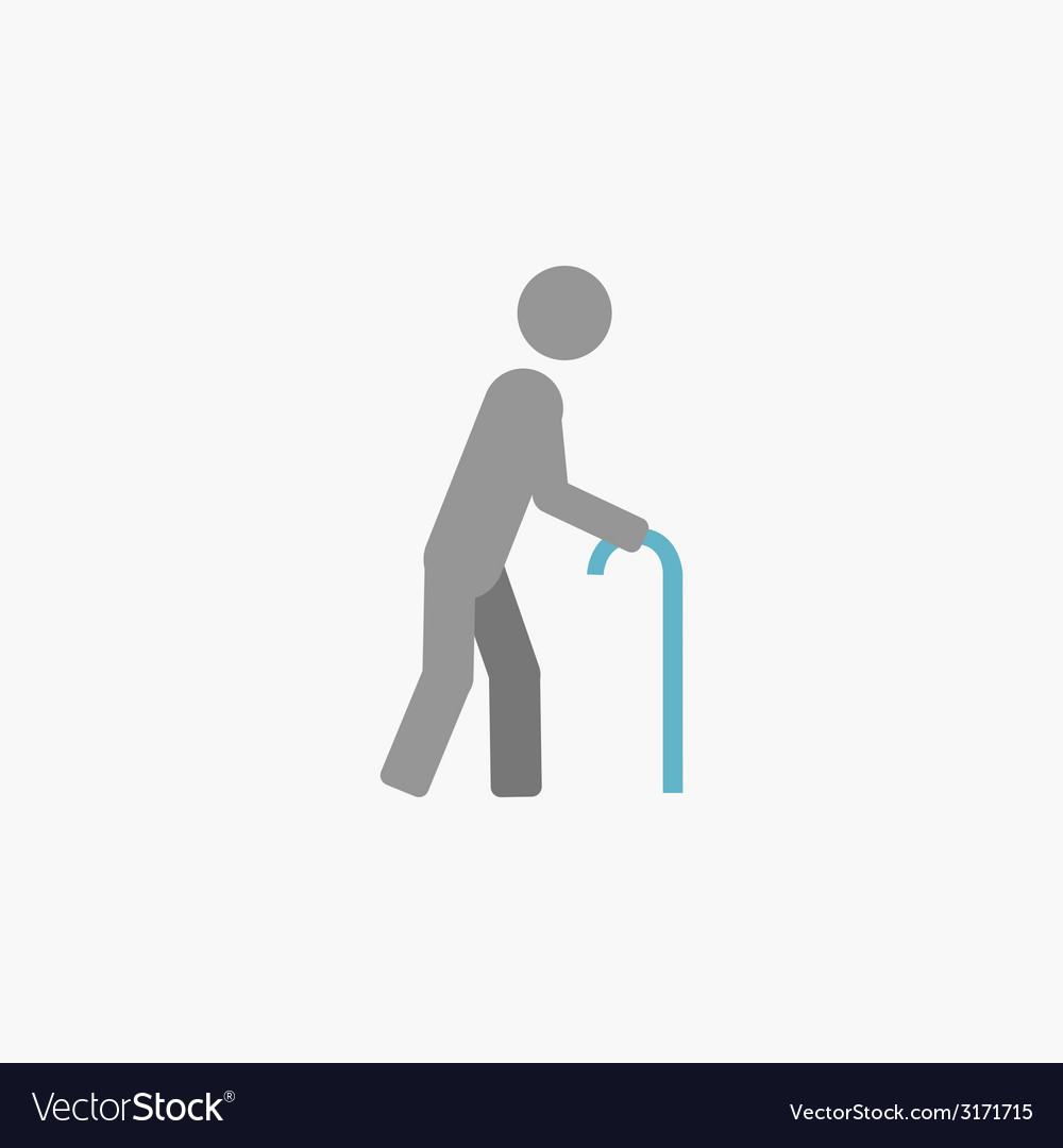 Disability flat icon vector | Price: 1 Credit (USD $1)