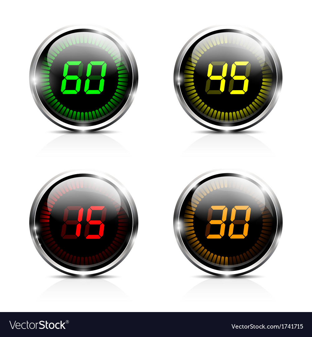 Electronic brilliant countdown timers vector | Price: 1 Credit (USD $1)