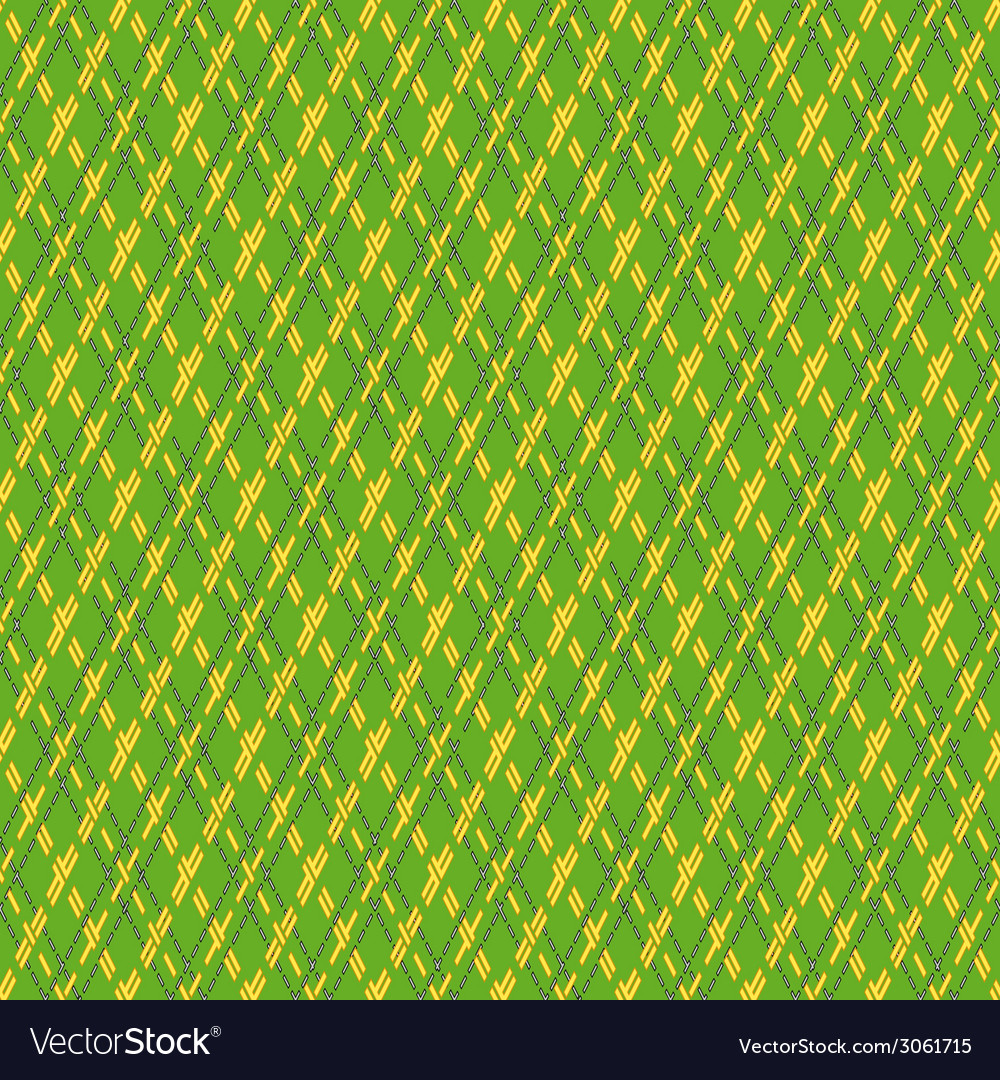 Green and yellow seamless mesh pattern vector | Price: 1 Credit (USD $1)