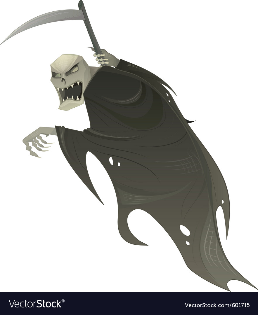Grim reaper with scythe vector | Price: 1 Credit (USD $1)