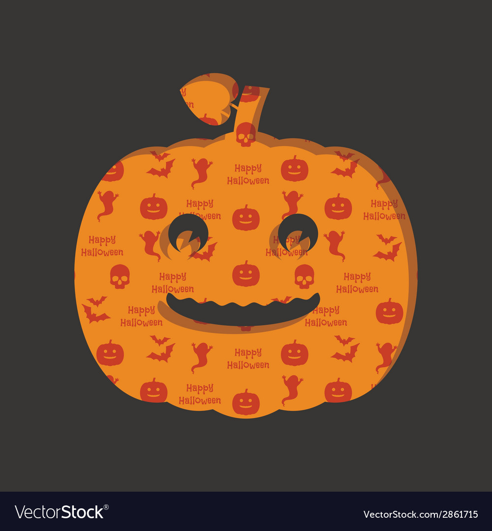 Halloween pumpkin decoration vector | Price: 1 Credit (USD $1)