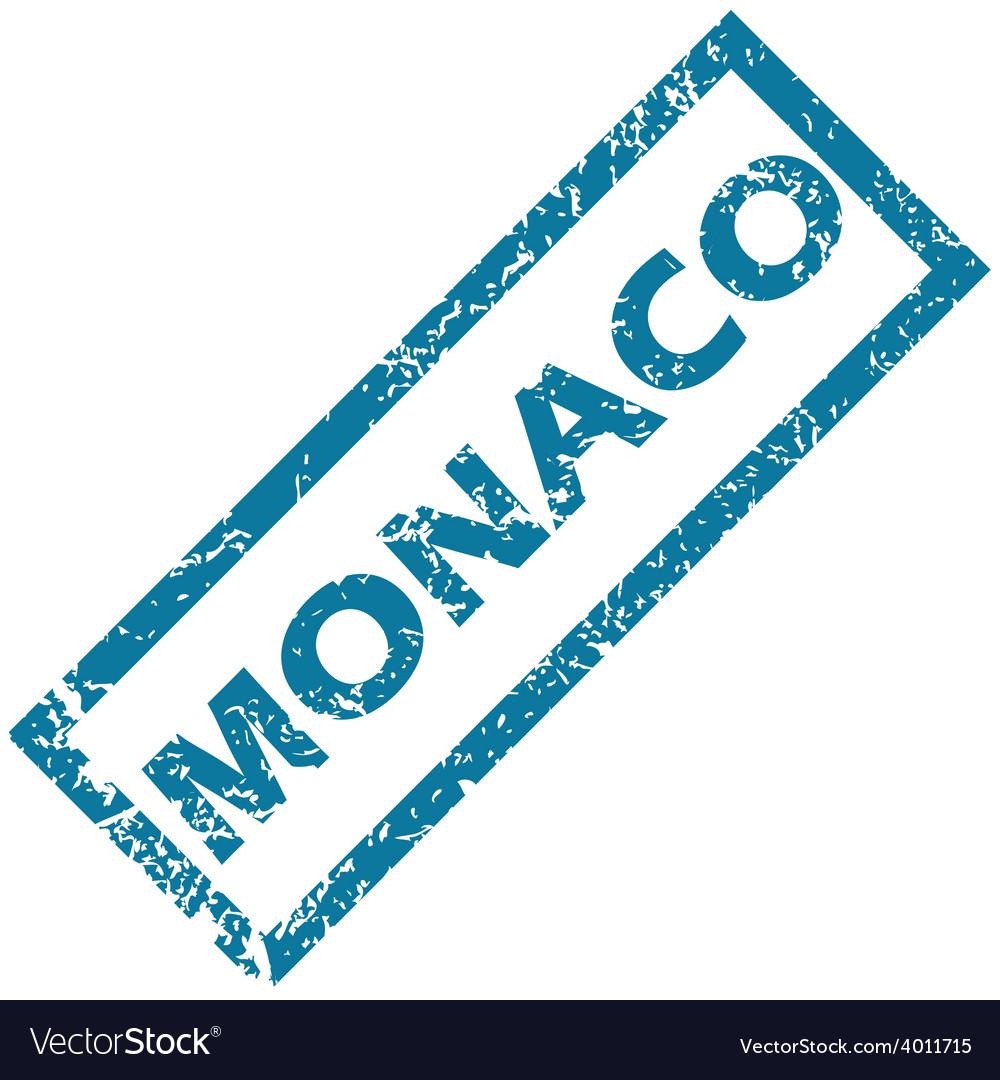 Monaco rubber stamp vector | Price: 1 Credit (USD $1)