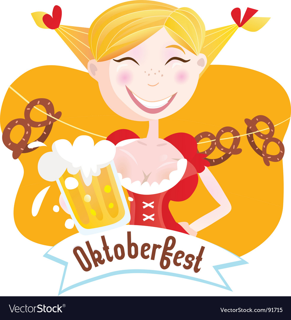 Octoberfest bavarian girl vector | Price: 1 Credit (USD $1)