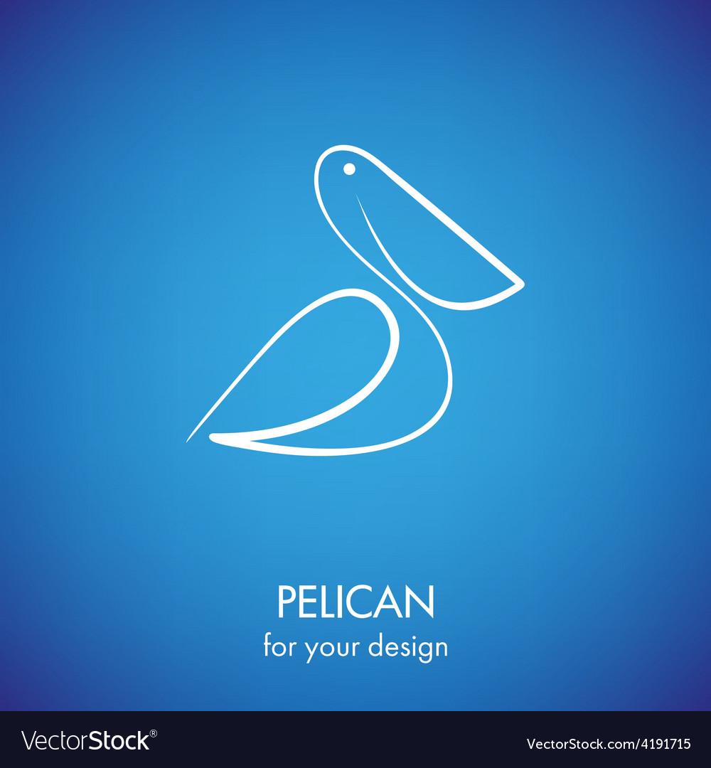 Pelican icon vector | Price: 1 Credit (USD $1)