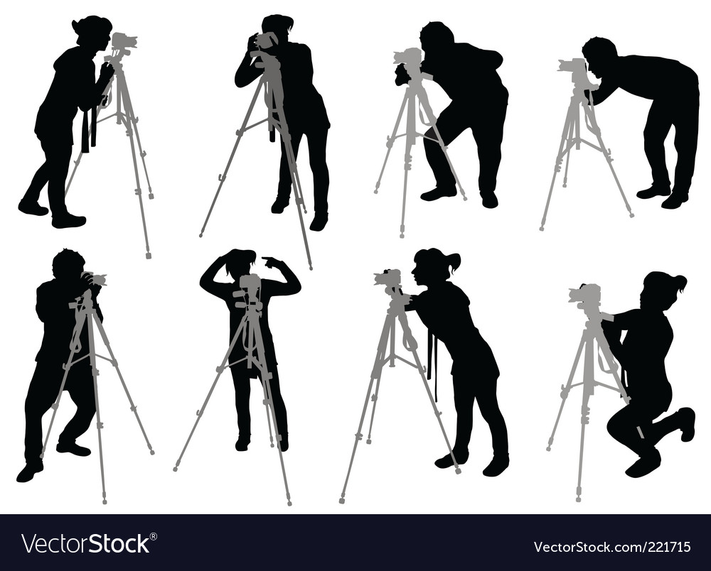 Photographer set vector | Price: 1 Credit (USD $1)