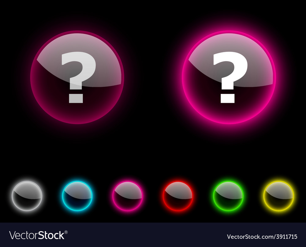 Question button vector | Price: 1 Credit (USD $1)