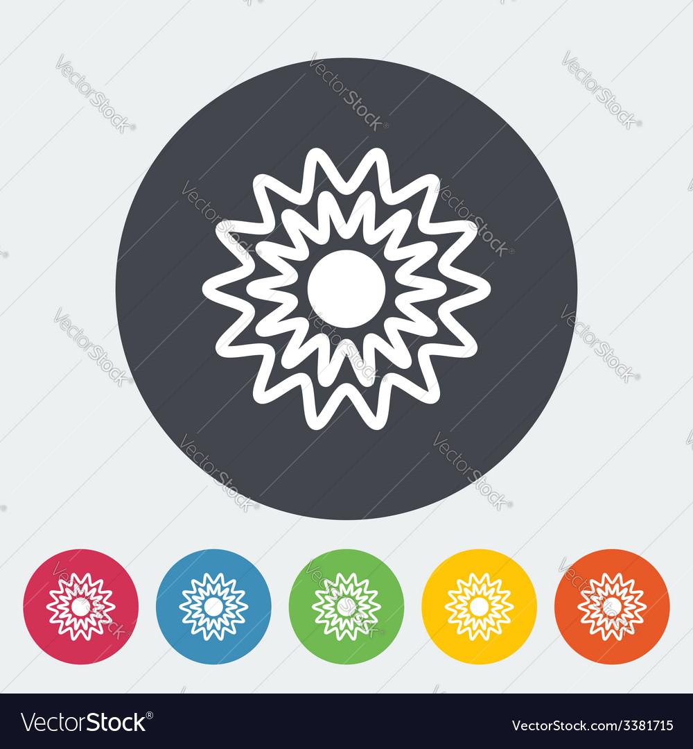 Sun flat icon vector   Price: 1 Credit (USD $1)