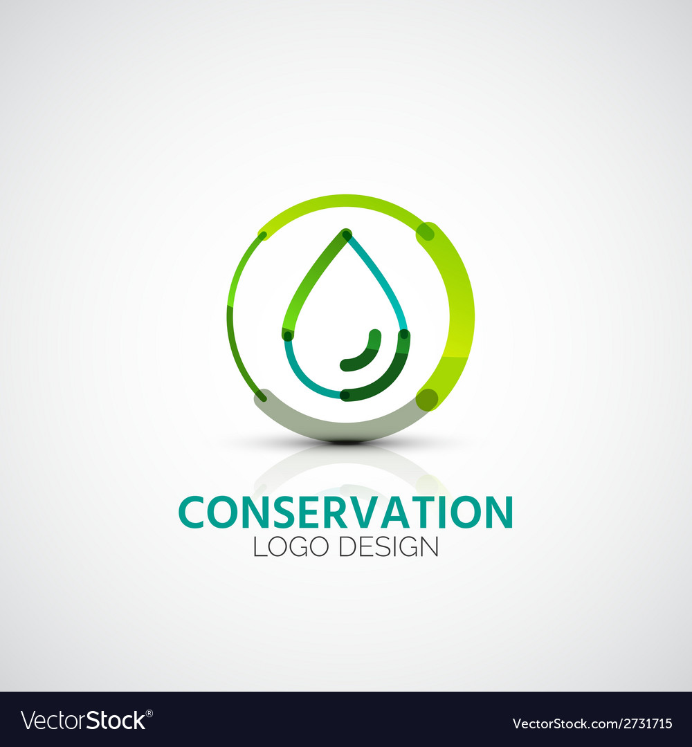 Water conservation company logo business concept vector | Price: 1 Credit (USD $1)