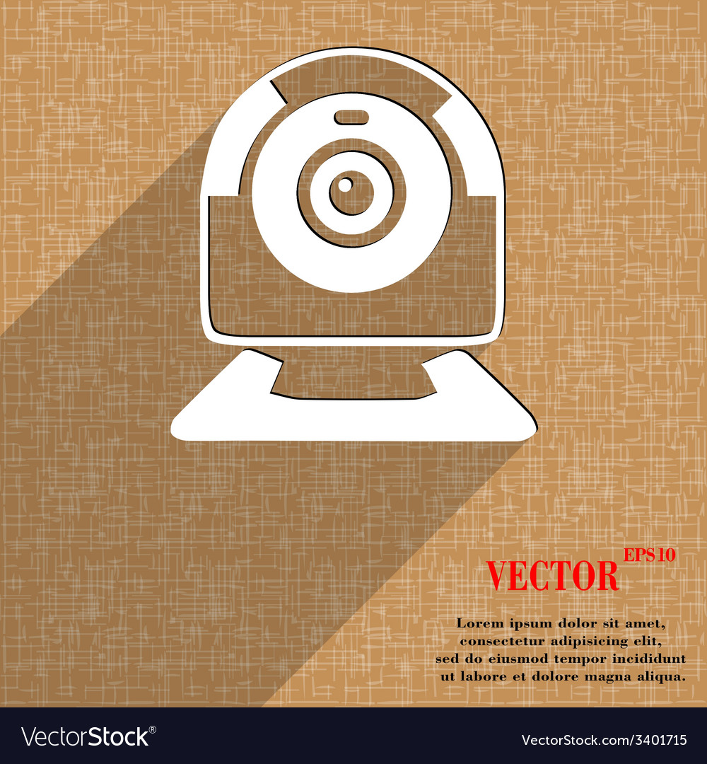 Webcam icon symbol flat modern web design with vector | Price: 1 Credit (USD $1)