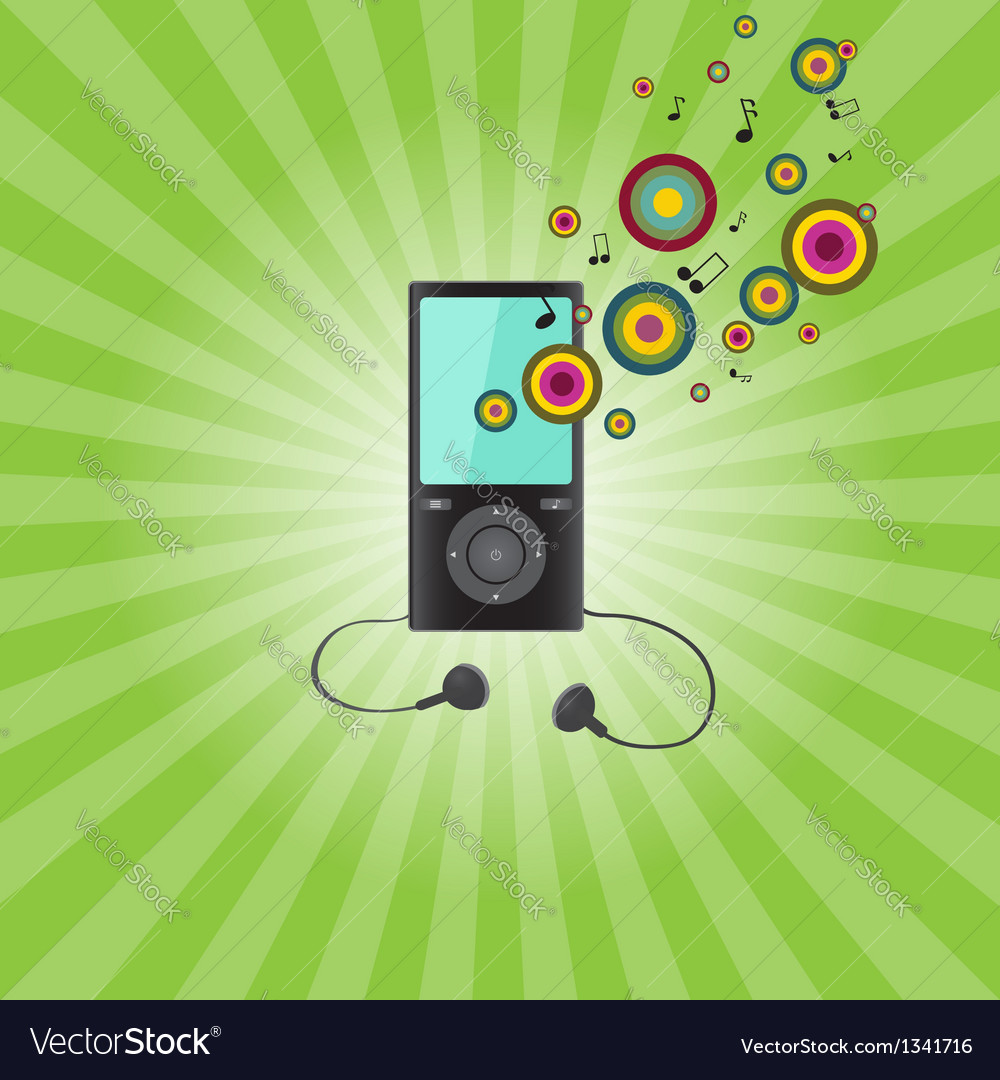 Audio player vector | Price: 1 Credit (USD $1)