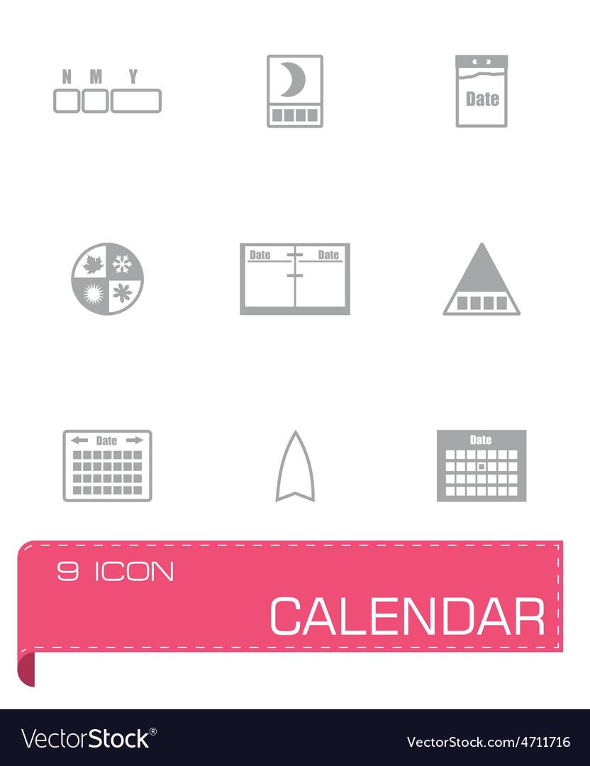 Calendar icon set vector   Price: 1 Credit (USD $1)