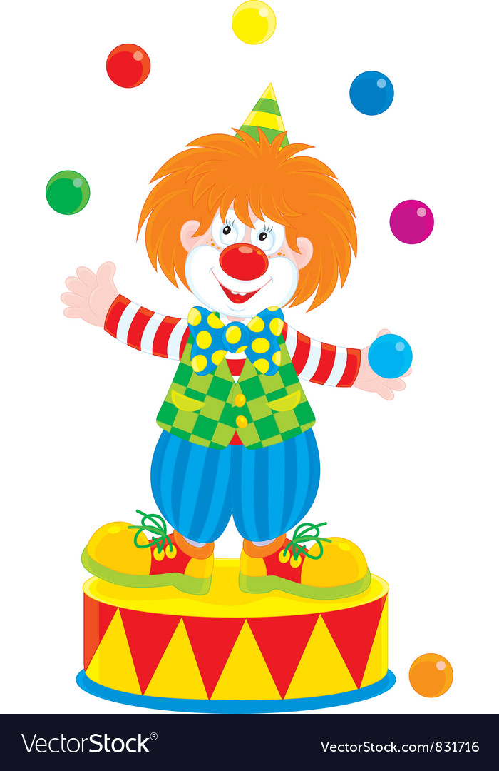 Circus clown juggler vector | Price: 1 Credit (USD $1)