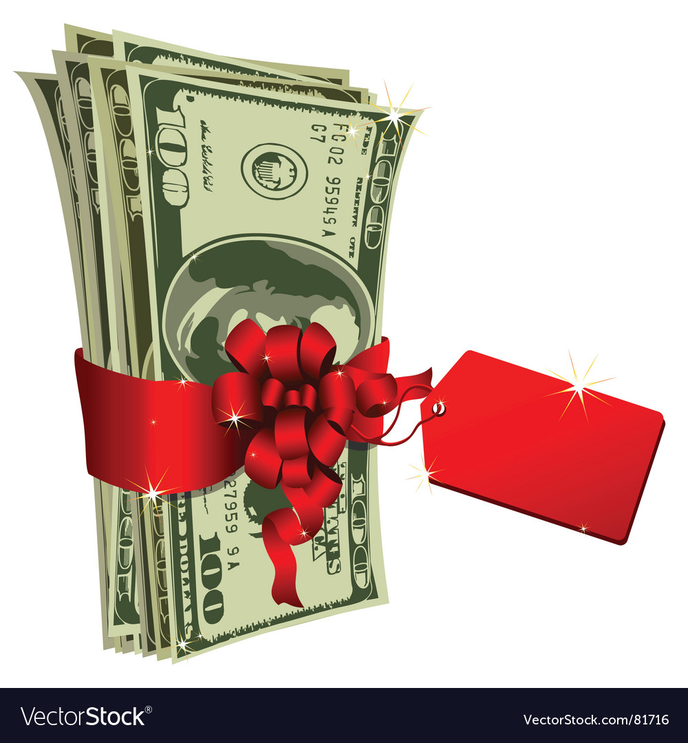 Dollar gift vector | Price: 1 Credit (USD $1)