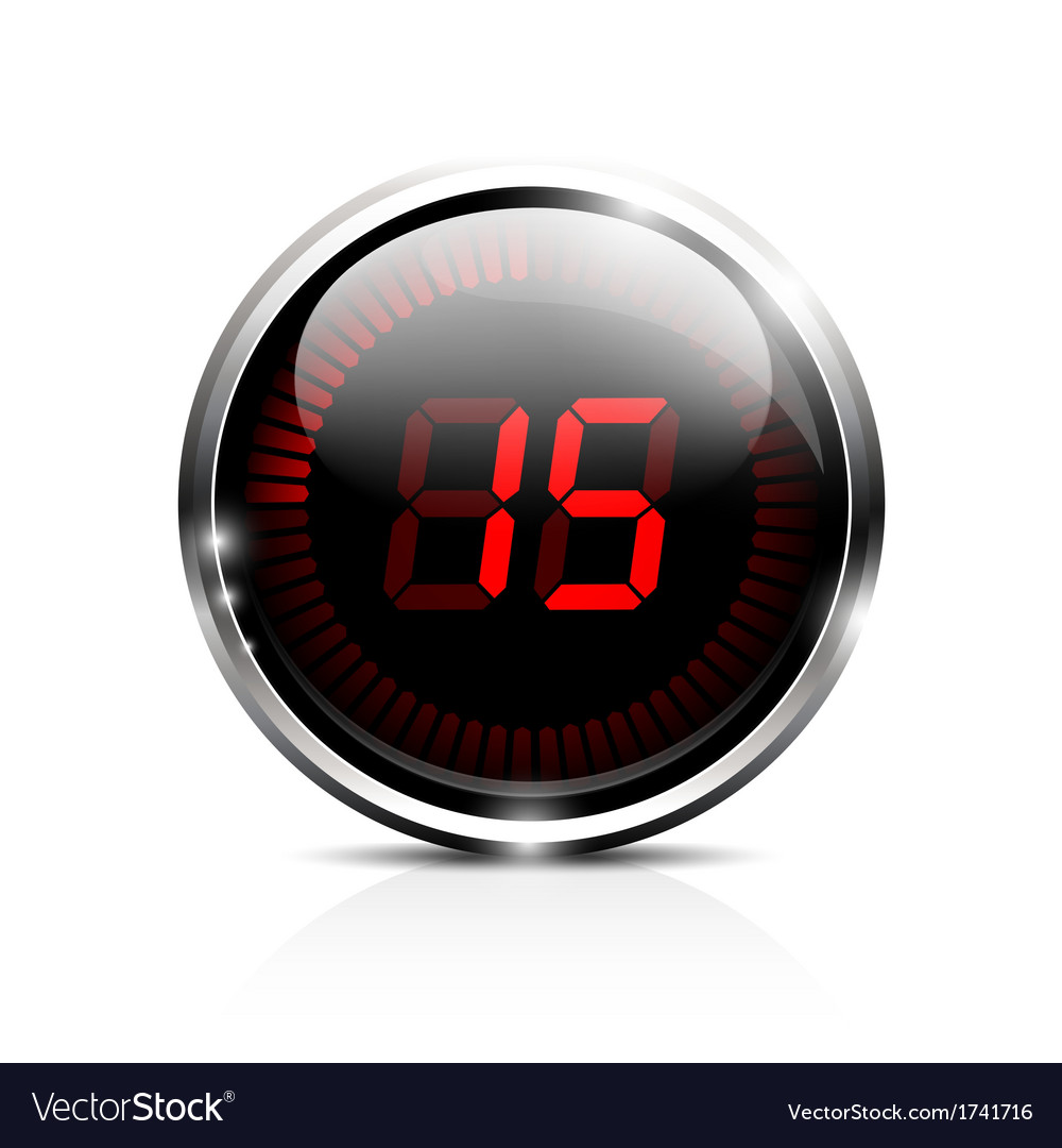 Electronic timer 15 seconds vector | Price: 1 Credit (USD $1)