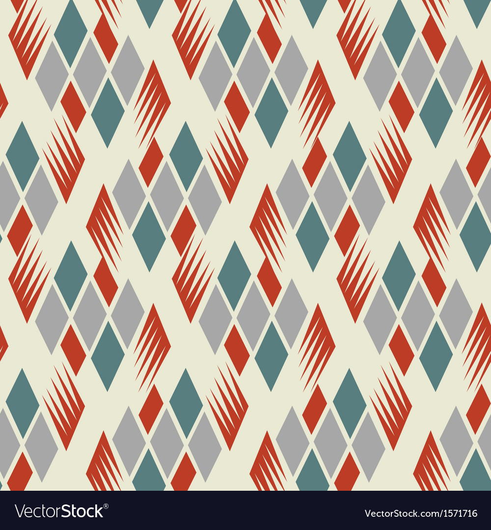 Retro diamond repeat pattern 1 vector | Price: 1 Credit (USD $1)