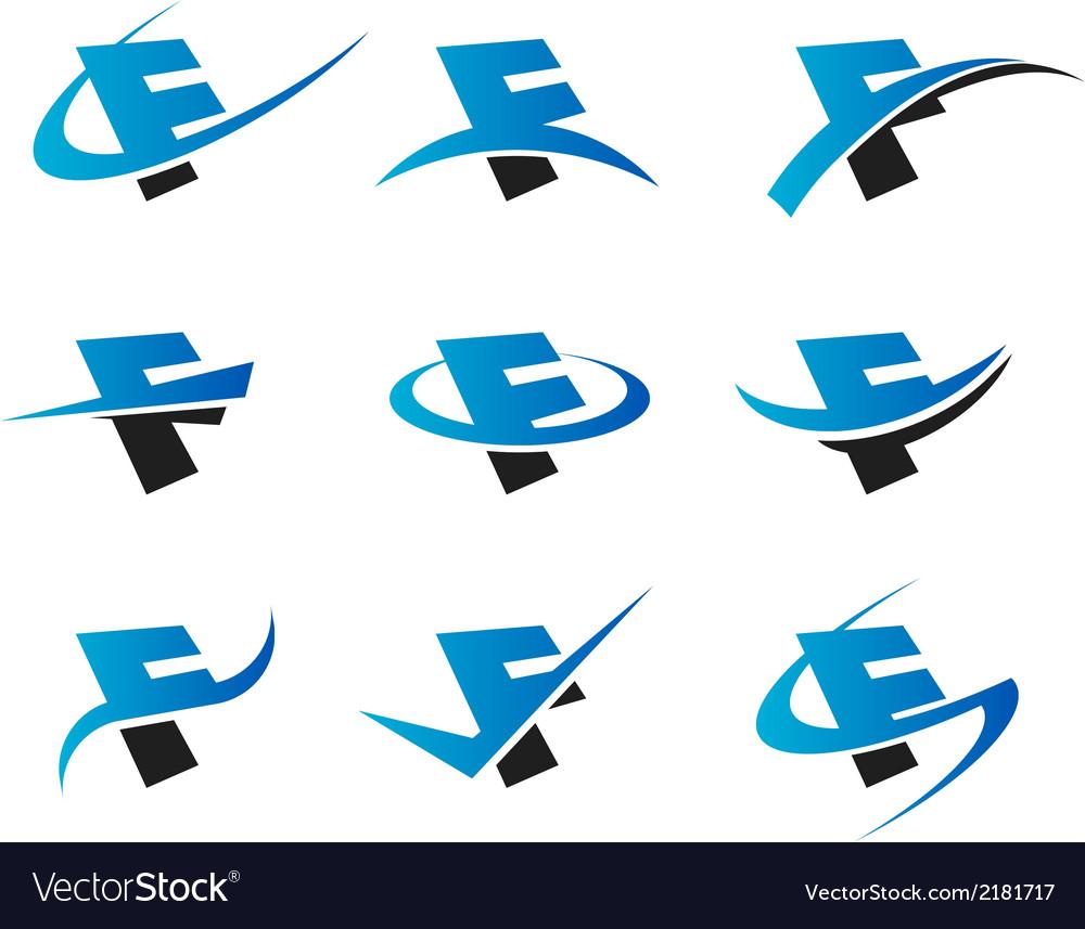 Alphabet f logo icons vector | Price: 1 Credit (USD $1)