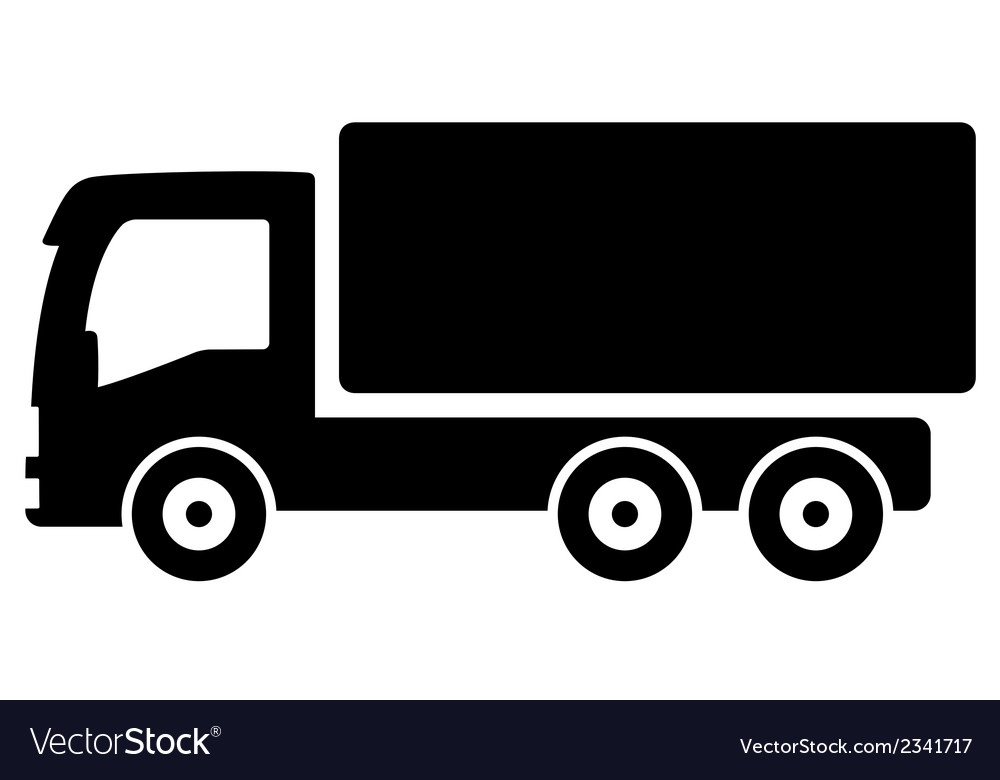Black lorry silhouette vector | Price: 1 Credit (USD $1)
