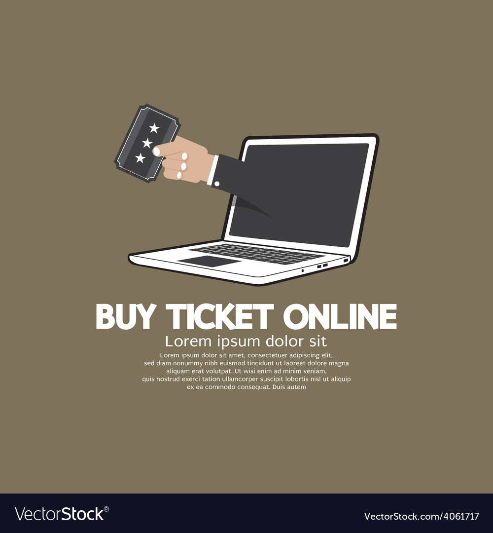 Buy ticket online concept vector | Price: 1 Credit (USD $1)