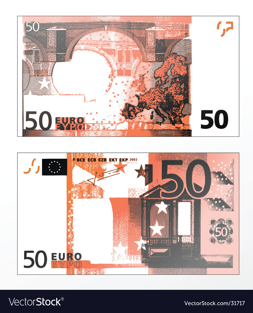 Euros 50 banknote vector | Price: 1 Credit (USD $1)