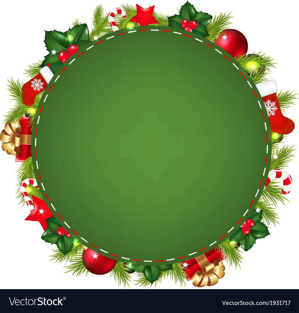 Green speech bubble with christmas icon vector | Price: 1 Credit (USD $1)