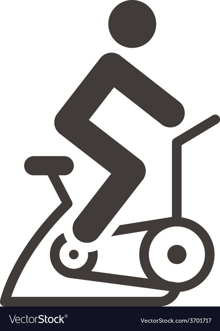 Indoor cycling icon vector | Price: 1 Credit (USD $1)