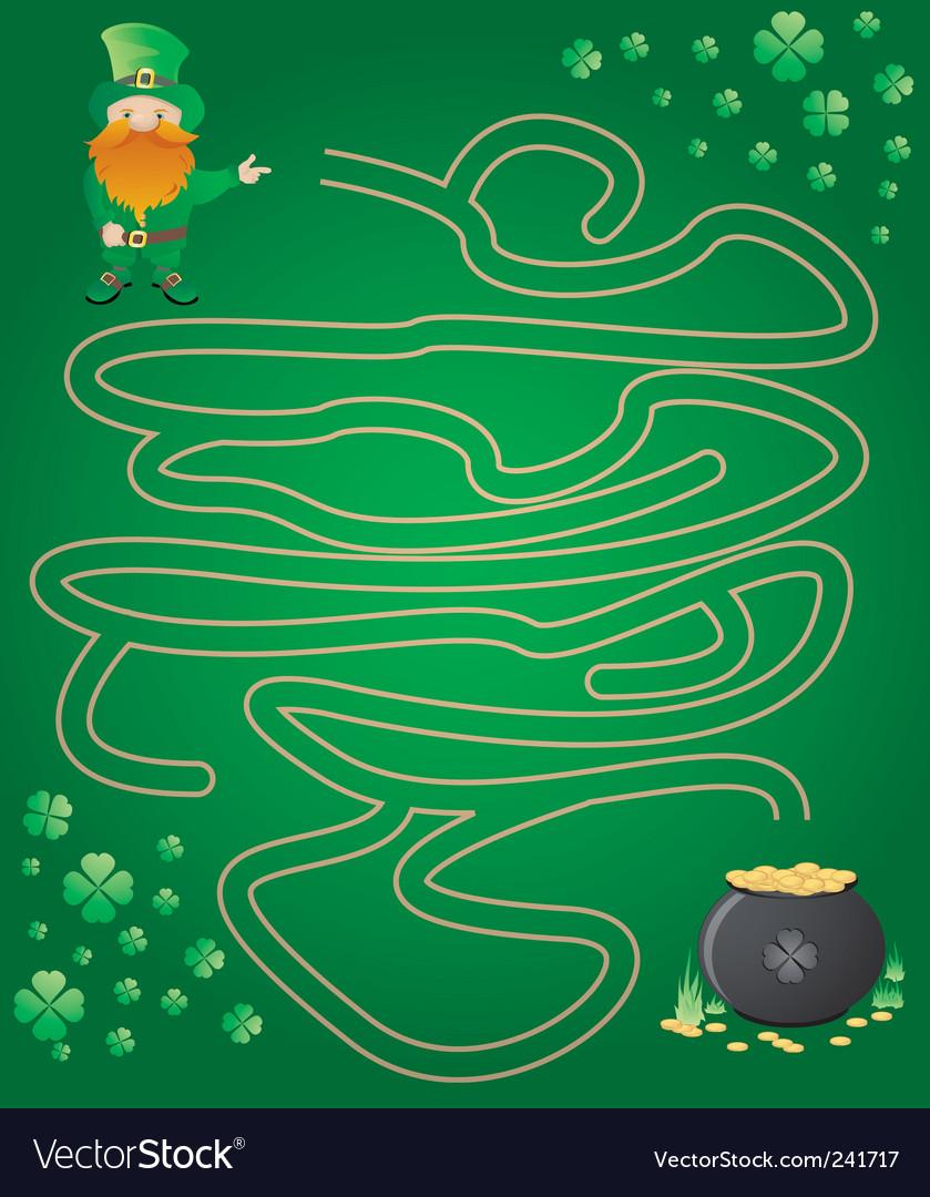 Leprechaun maze vector | Price: 1 Credit (USD $1)