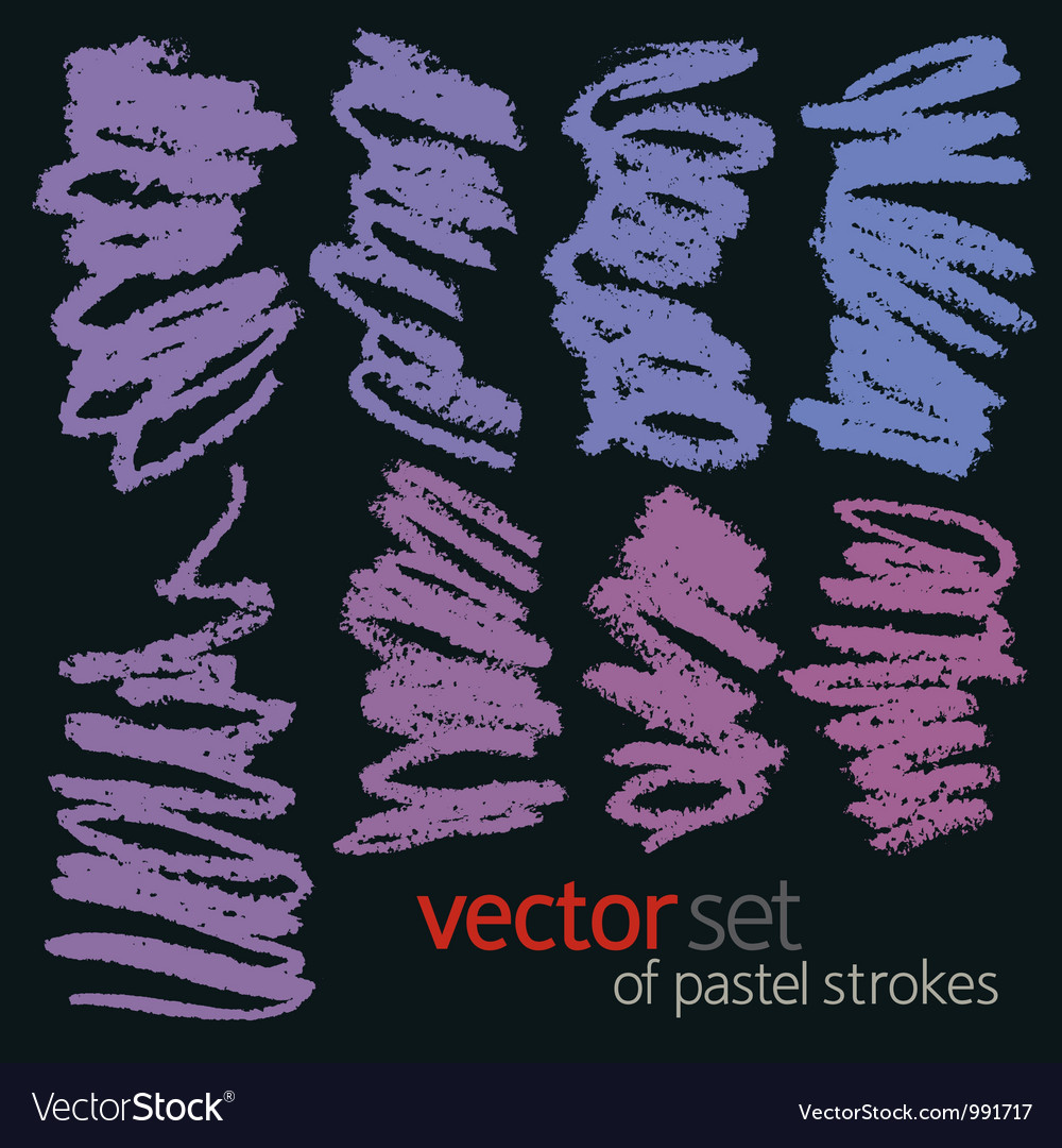 Pastel strokes set 2 vector | Price: 1 Credit (USD $1)