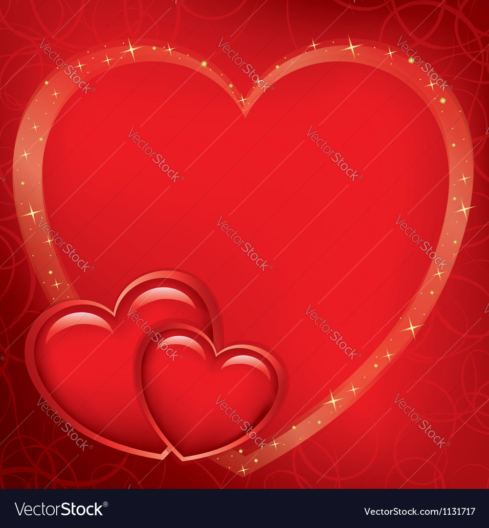 Red romantic card for valentines day vector | Price: 1 Credit (USD $1)