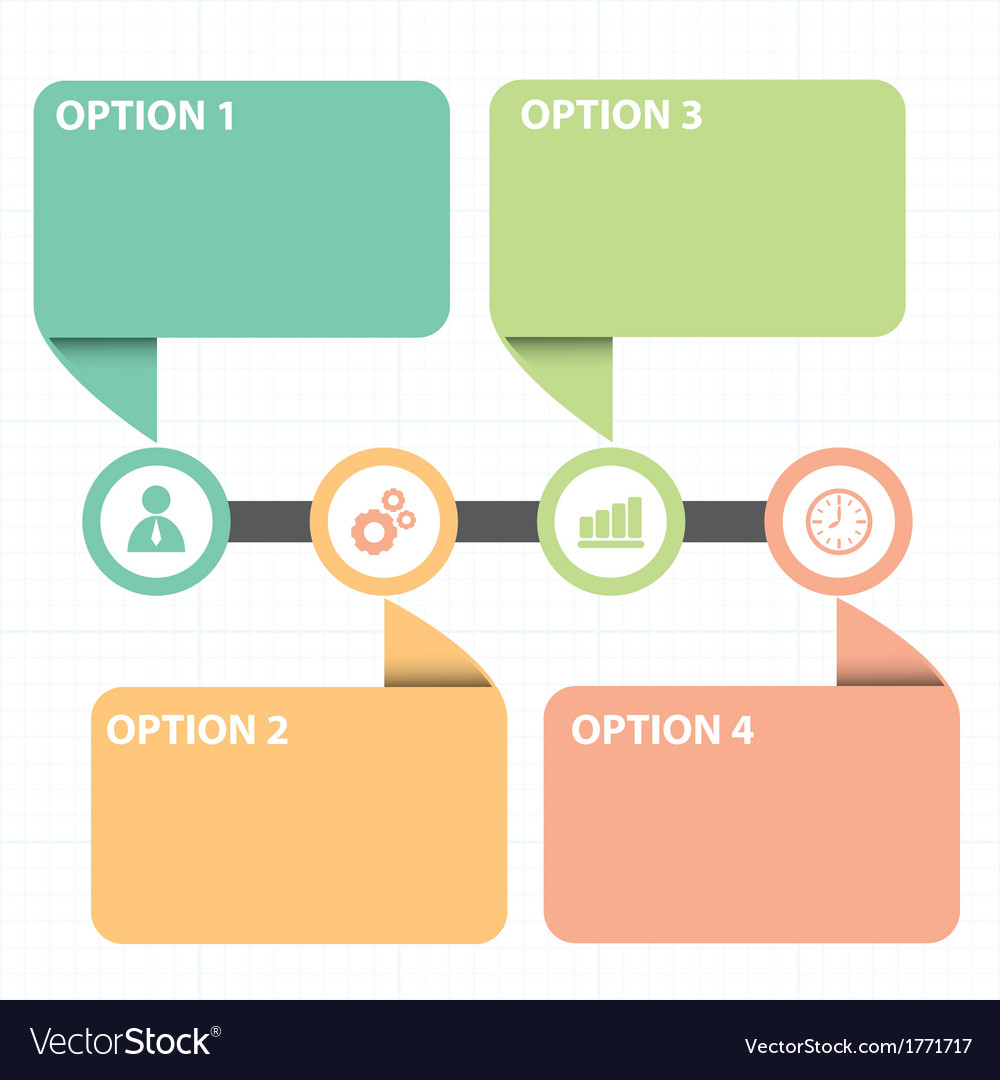 Text box with line business strategy diagram vector | Price: 1 Credit (USD $1)