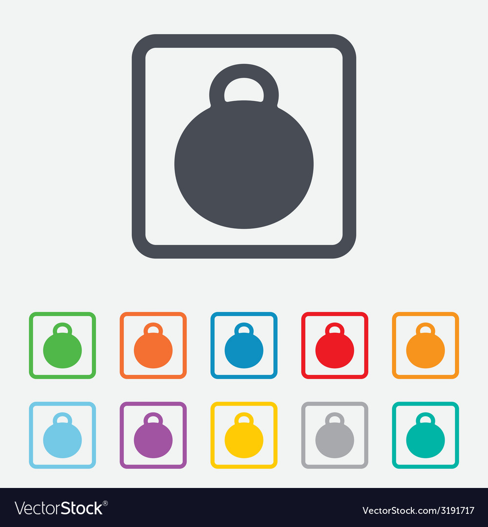Weight sign icon sport symbol fitness vector | Price: 1 Credit (USD $1)