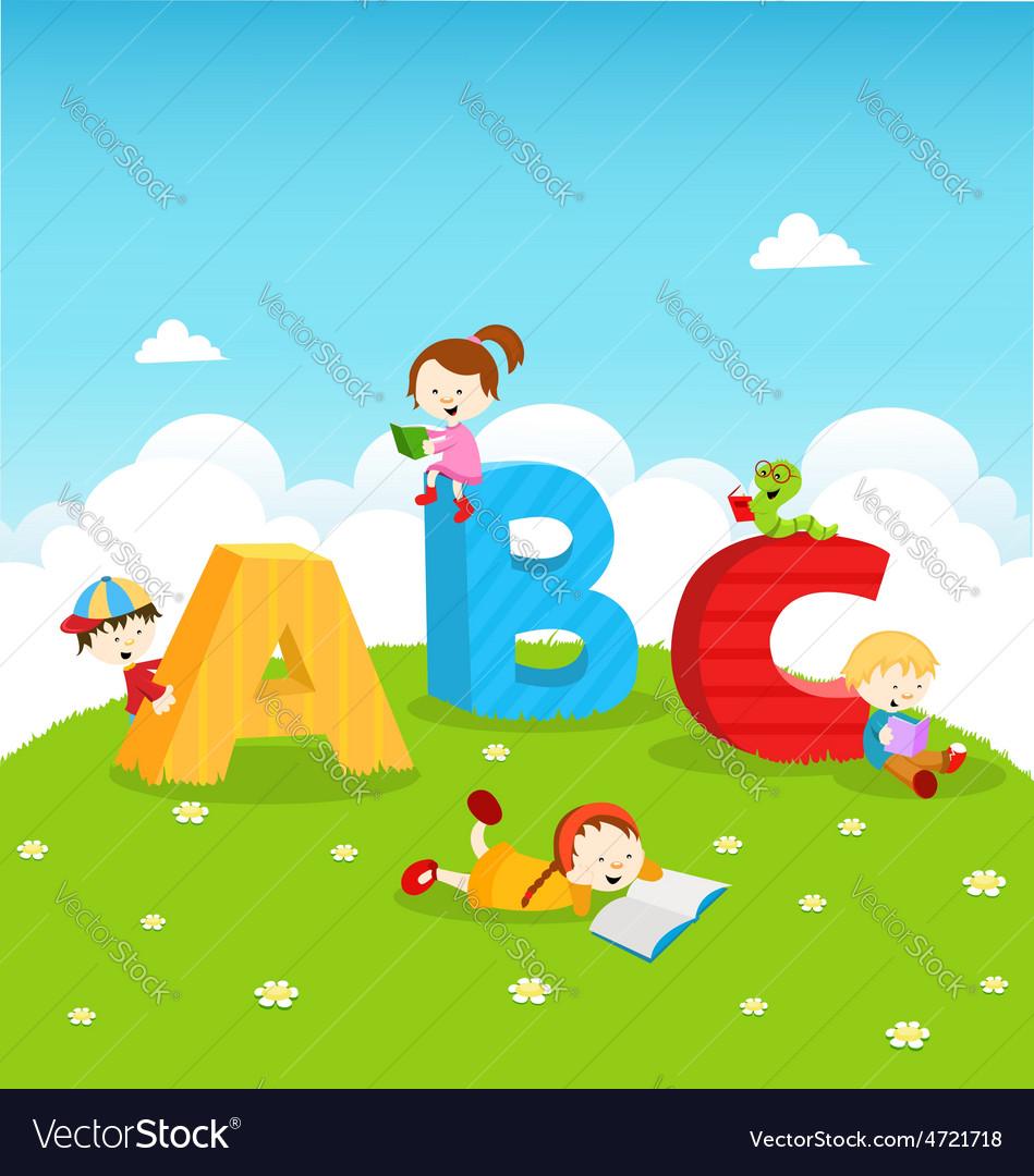 Abc kids vector