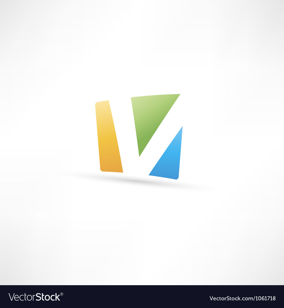 Abstract icon based on the letter v vector | Price: 1 Credit (USD $1)