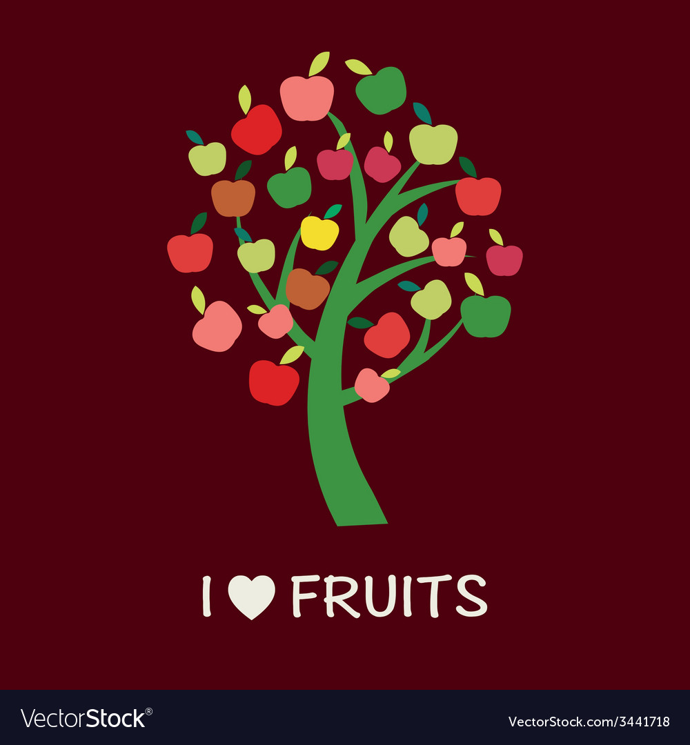 Apple tree - - vector | Price: 1 Credit (USD $1)