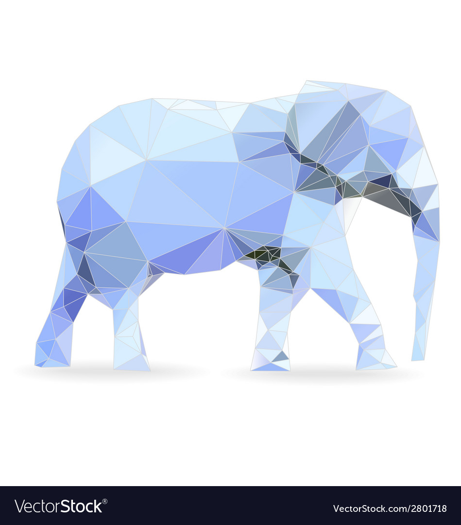 Big data elephant vector | Price: 1 Credit (USD $1)