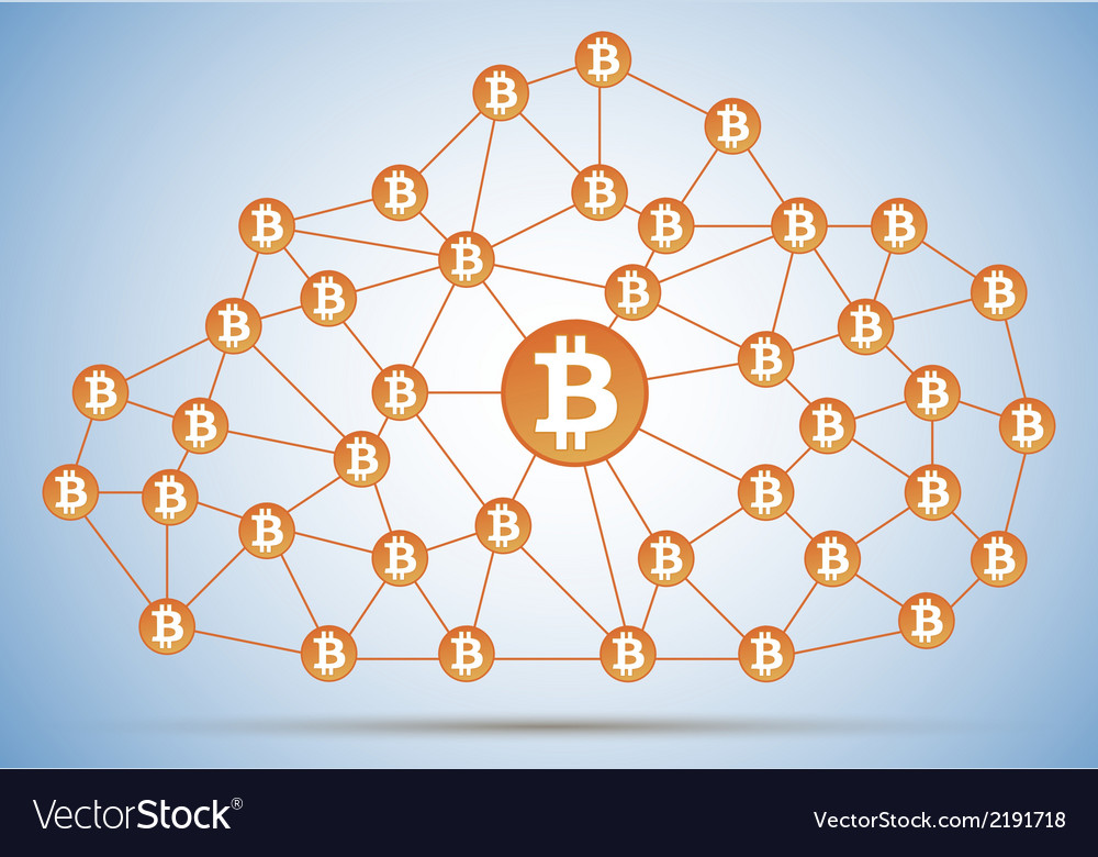 Bitcoin cloud net vector | Price: 1 Credit (USD $1)