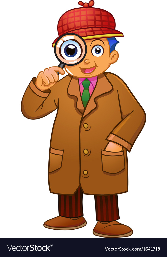Detective boy vector | Price: 1 Credit (USD $1)