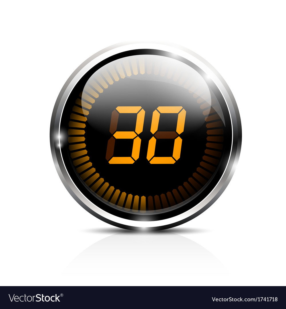 Electronic timer 30 seconds vector | Price: 1 Credit (USD $1)