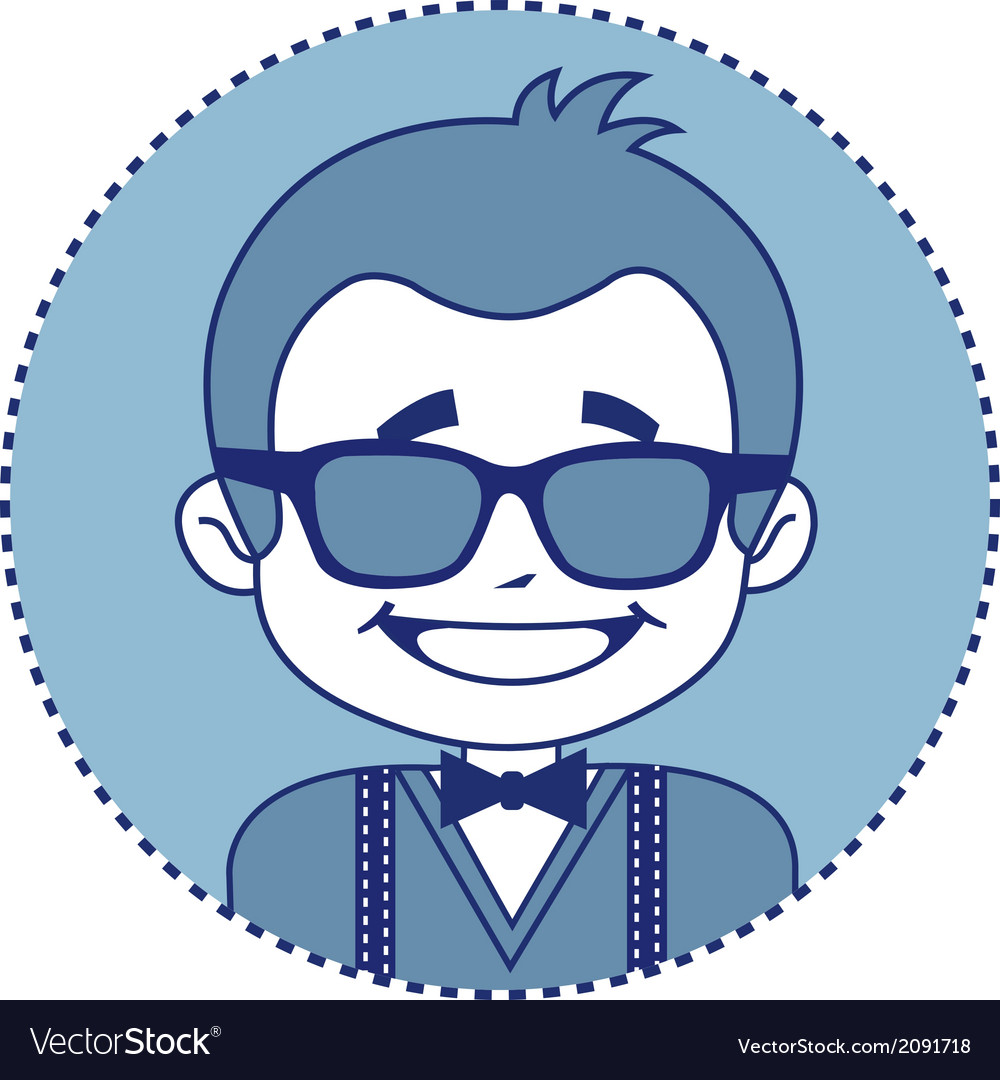 Fashionable and happy showman in sunglasses vector | Price: 1 Credit (USD $1)