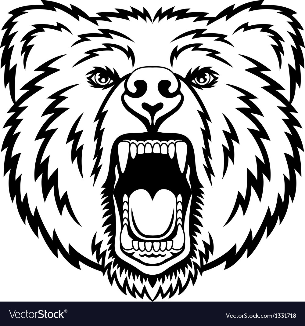 Growling bear vector | Price: 1 Credit (USD $1)