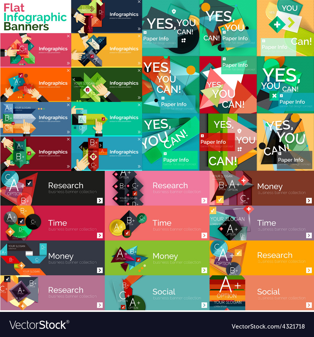 Mega collection of flat web infographic concepts vector | Price: 1 Credit (USD $1)