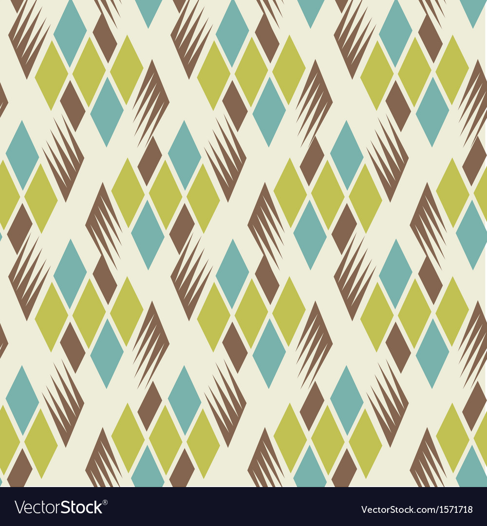Retro diamond repeat pattern 2 vector | Price: 1 Credit (USD $1)
