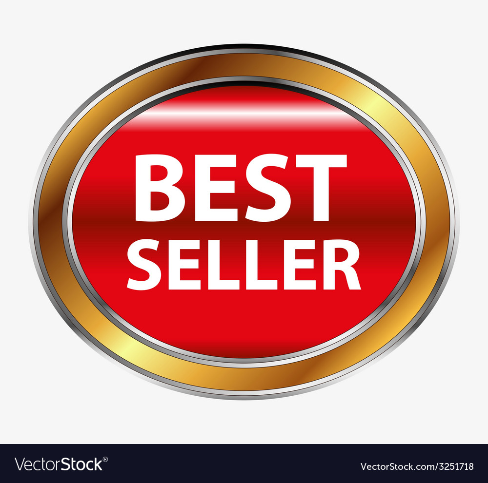 Round red best seller button vector   Price: 1 Credit (USD $1)