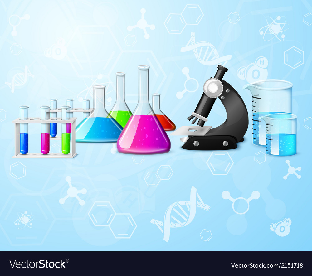 Scientific laboratory background vector | Price: 1 Credit (USD $1)