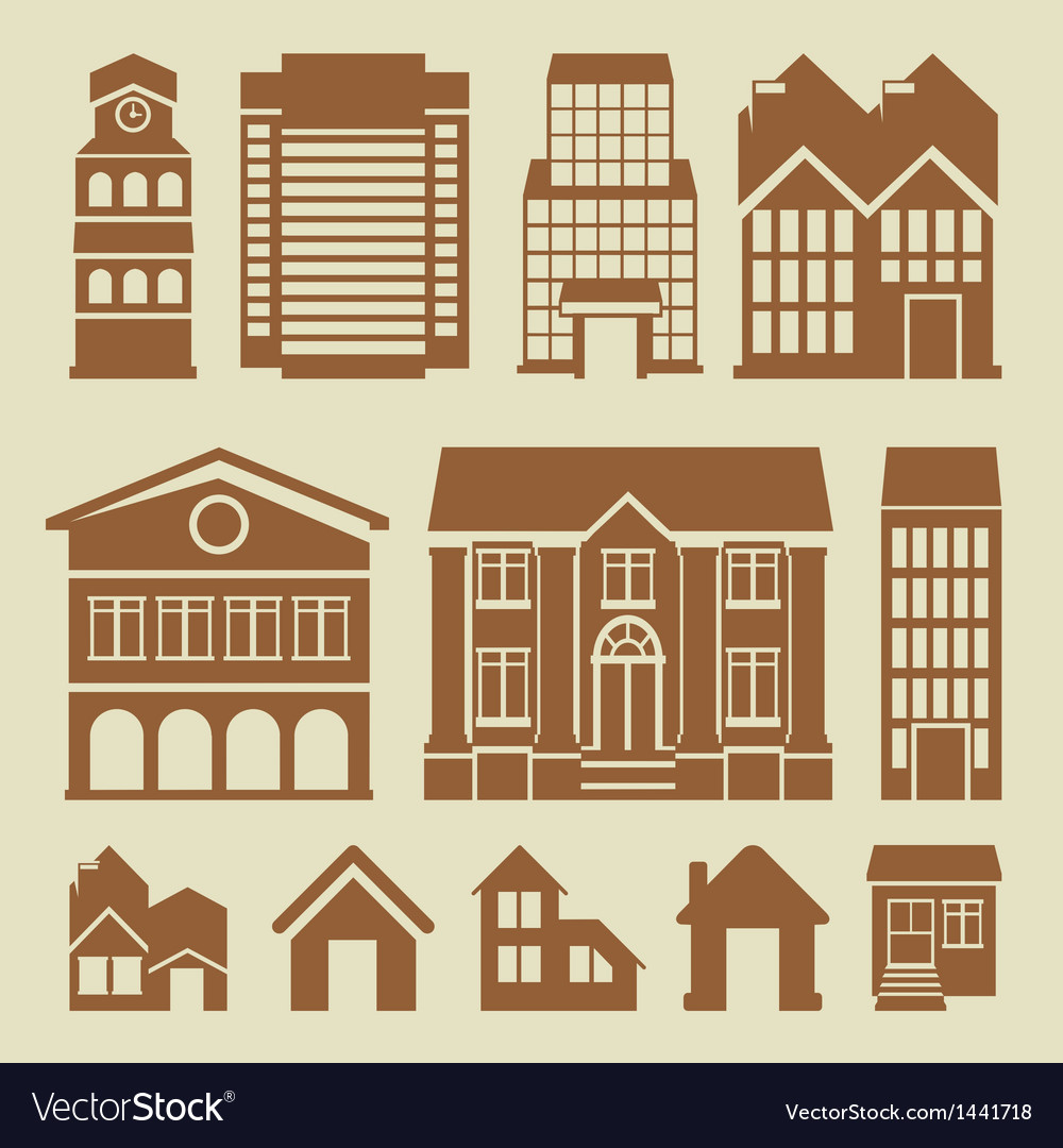 Set of houses icons vector | Price: 3 Credit (USD $3)