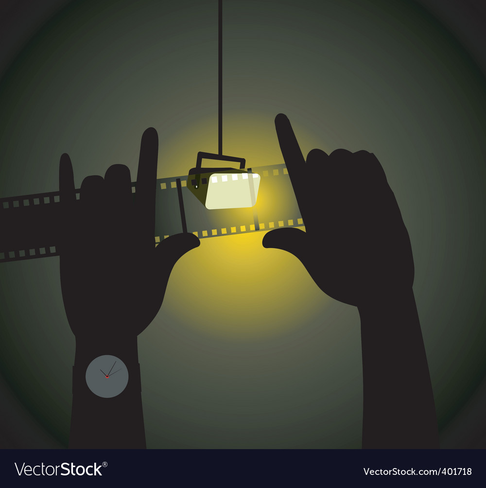Two hands with light vector | Price: 1 Credit (USD $1)